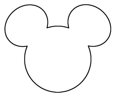 Disney Mickey Mouse Head Template via