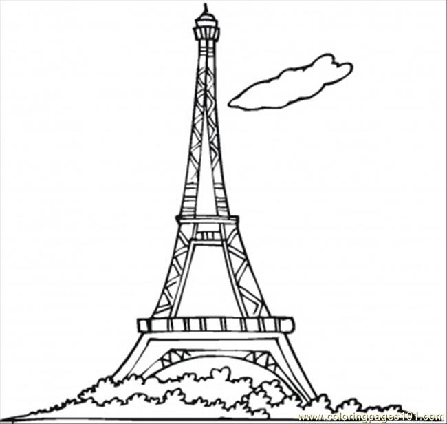 6 Images of Printable Eiffel Tower Bookmark