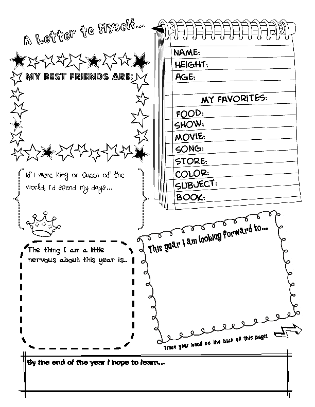 Free Printable First Day Of School Worksheets back to school – Middle School Math Worksheets Printable