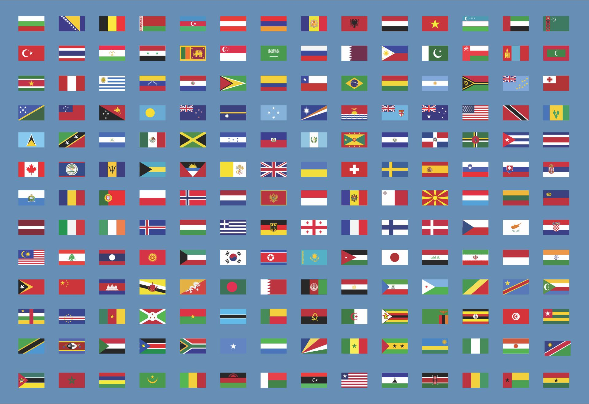 Printable Flags Of Different Countries