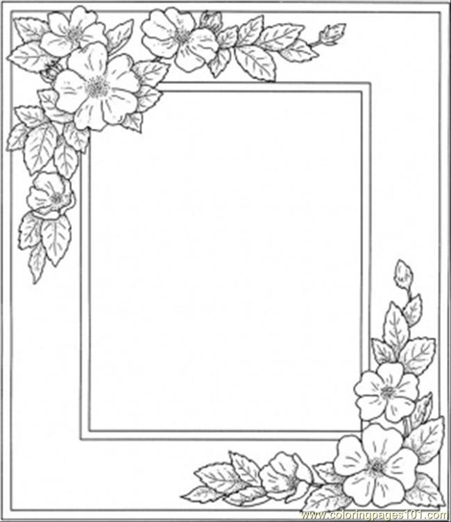 6 Images of Free Printable Picture Frame Coloring Pages