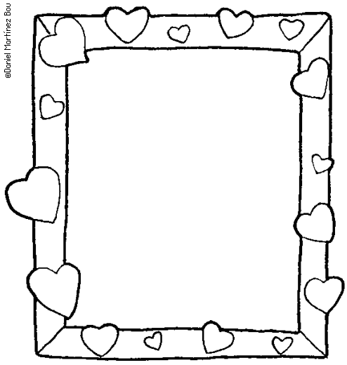 free picture frame coloring pages - photo#9