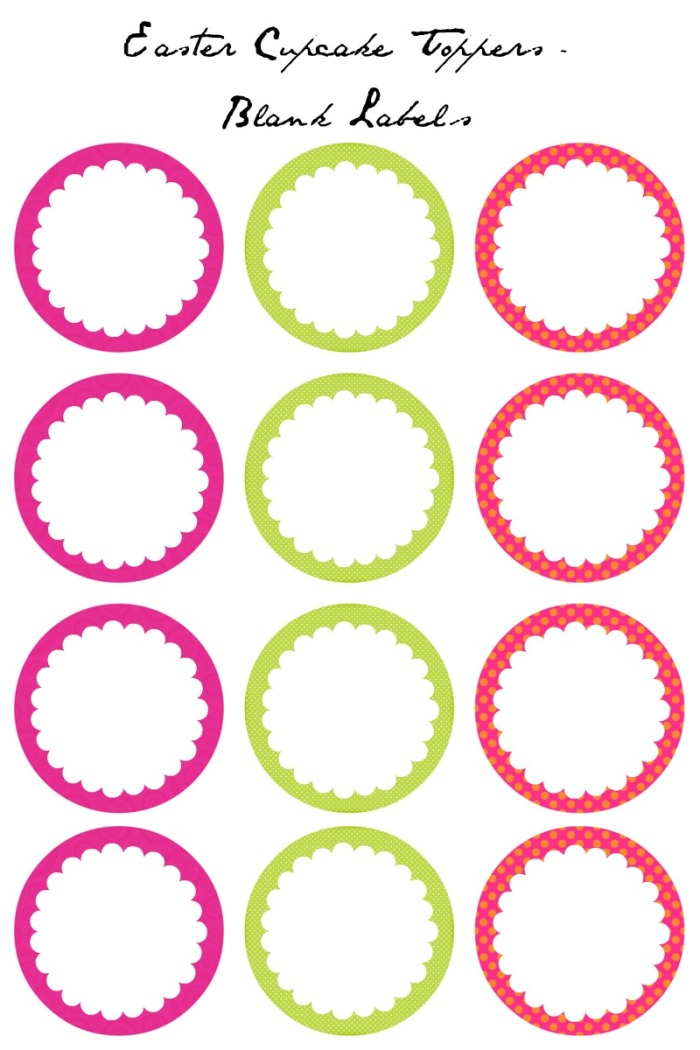 Free Printable Images Of Cupcakes : 7 Best Images of Blank Printable Cupcake Toppers Template ...