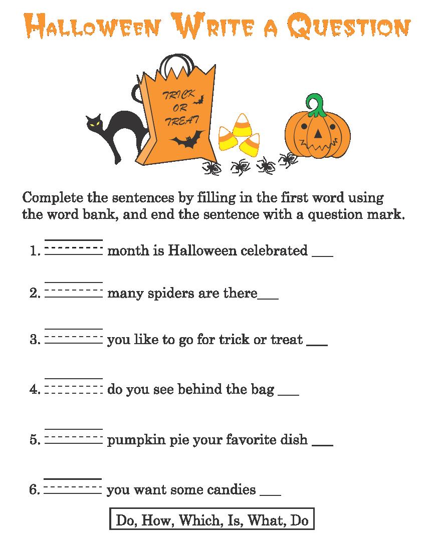 Free Halloween Worksheets Kindergarten