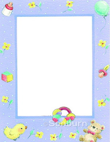 Free Printable Baby Border Paper