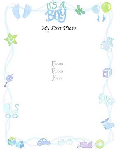 Free Printable Baby Boy Borders