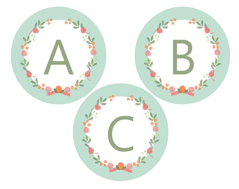 5 Images of Free Printable Flower Letters