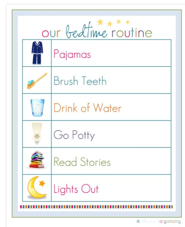 8 Images of Printable Bedtime Routine Checklist