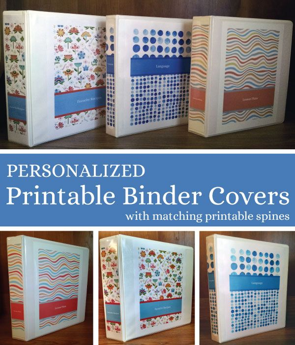 8 Images of Personalized Printable Binder Covers