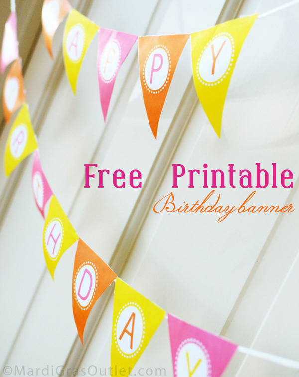 5 Images of Free Printable Birthday Pennant