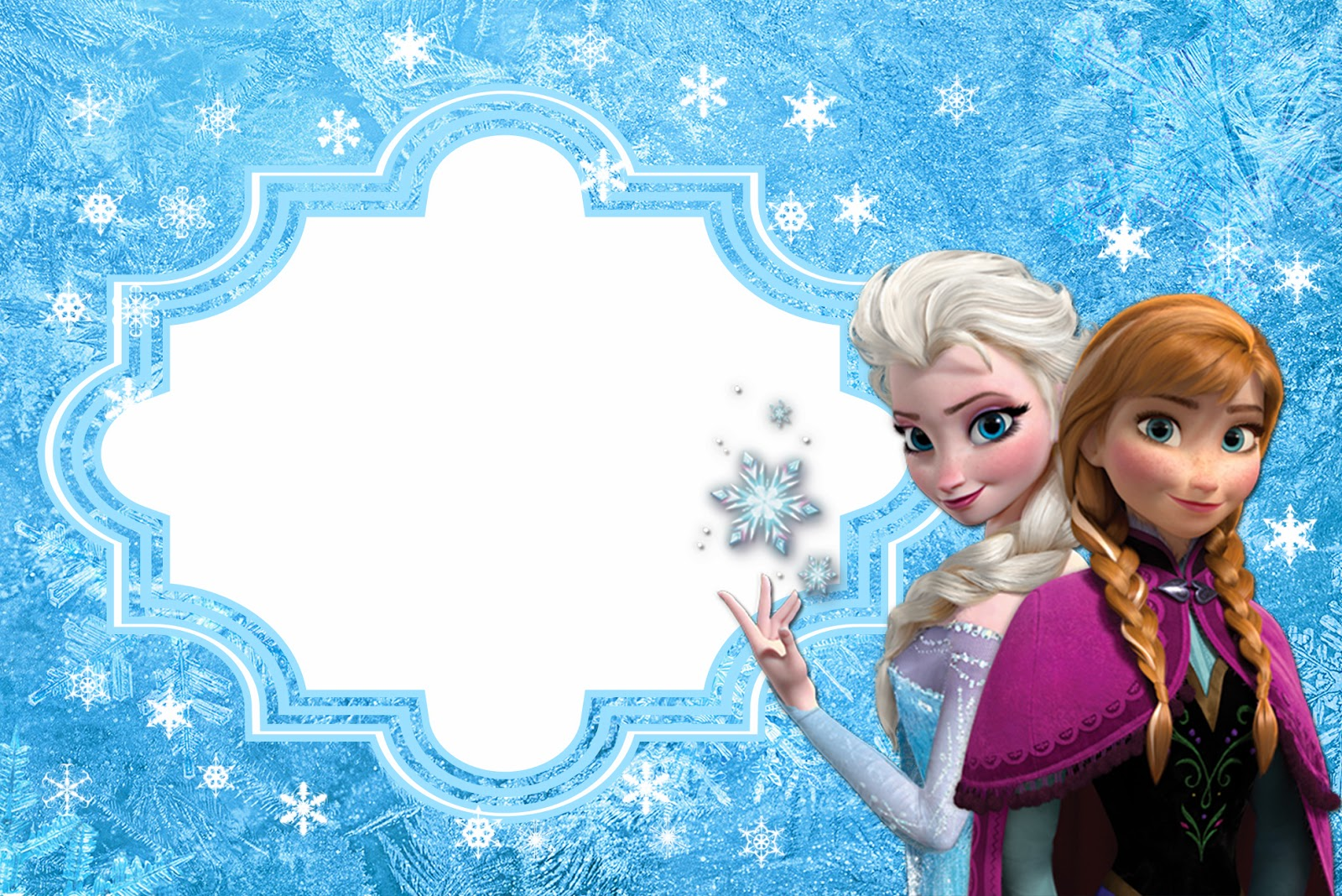 9 Images of Frozen Birthday Card Printable Template
