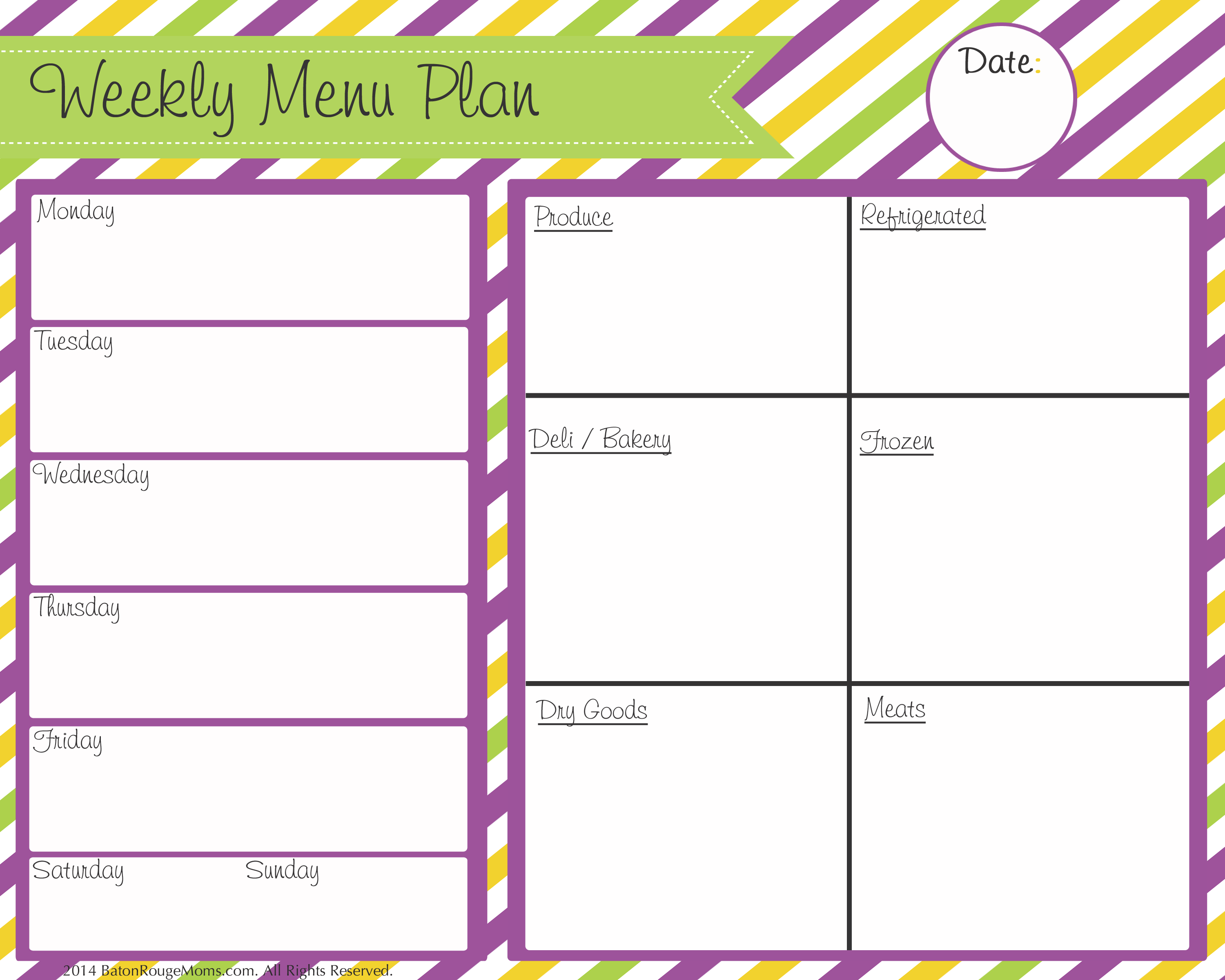 6 best images of printable blank menu calendar monthly for Monthly dinner calendar template