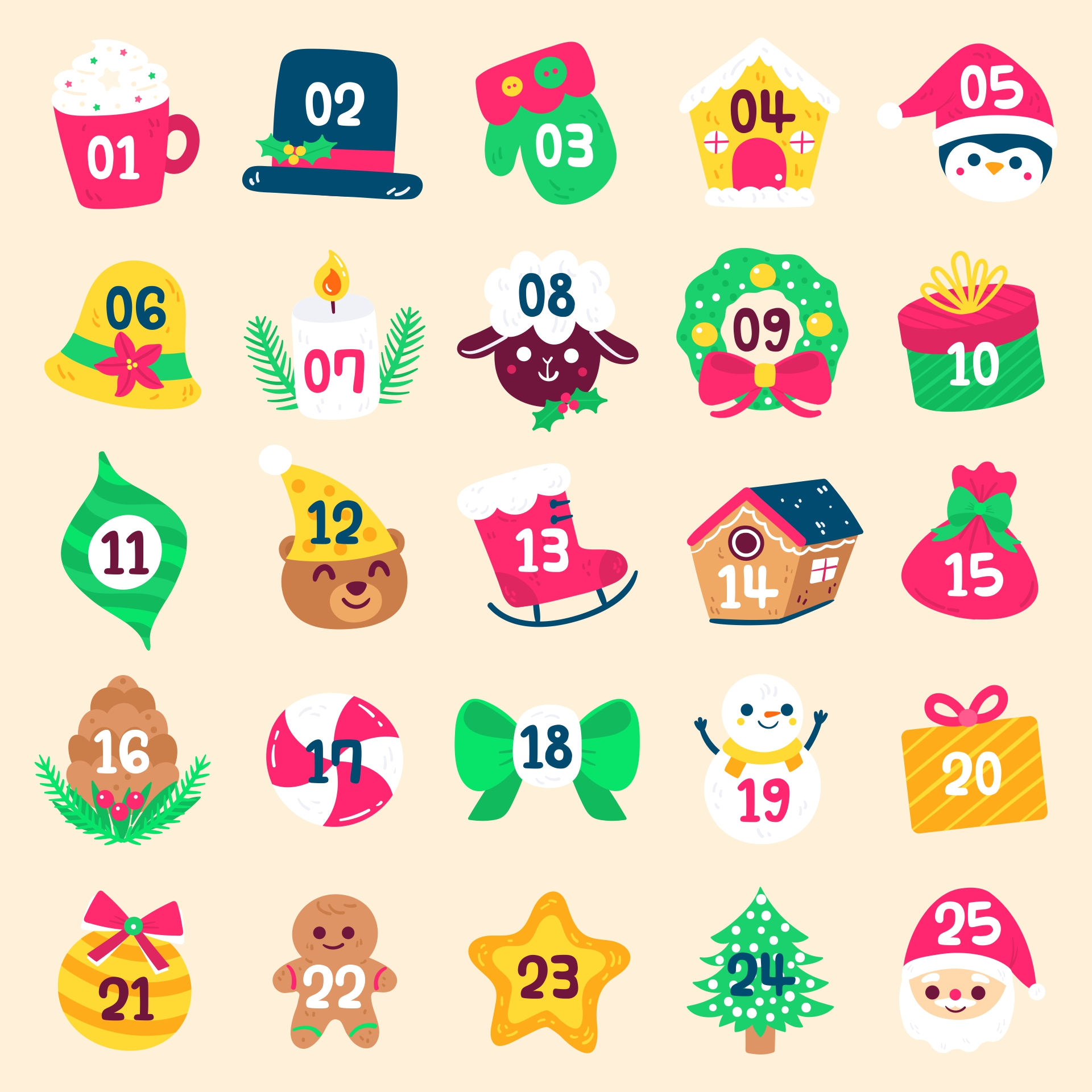 Printable Christmas Numbers