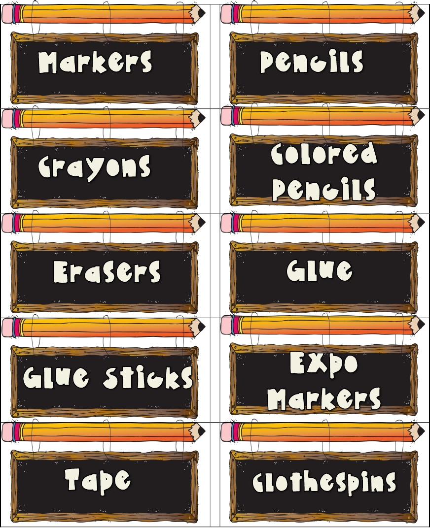 5 Images of Printable Classroom Signs And Labels