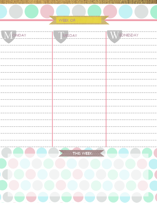 Free Printable Daily Planner 2015