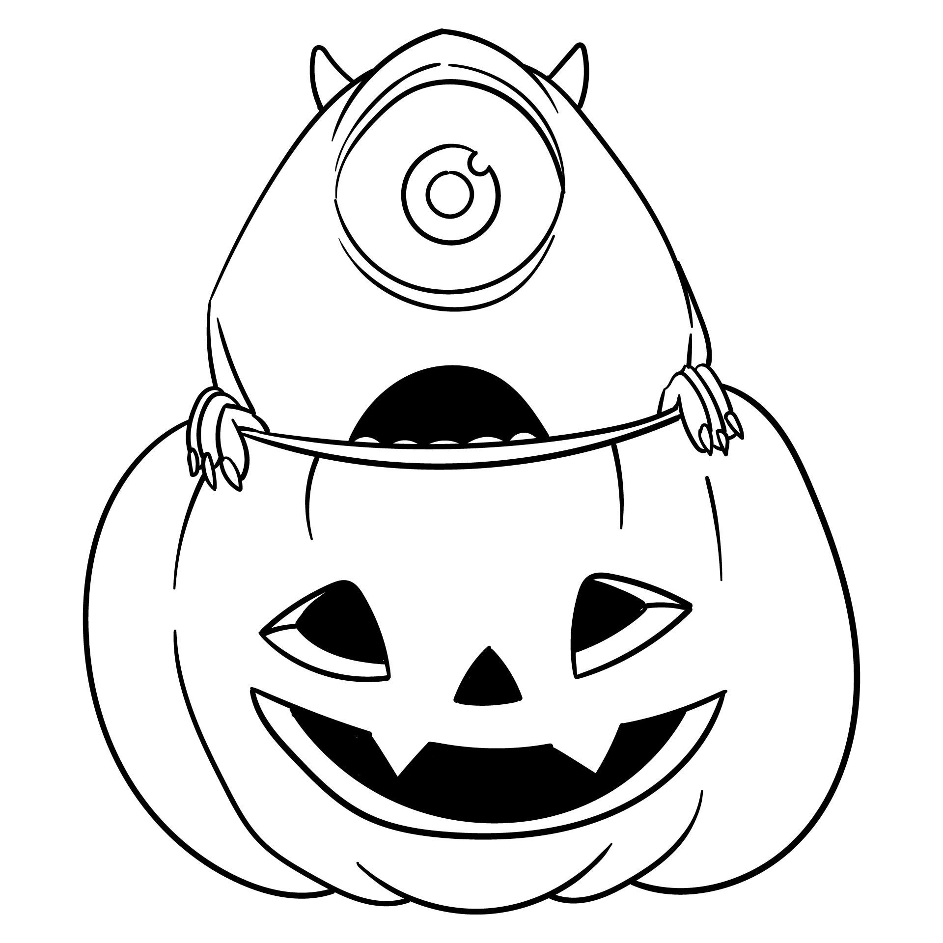 4 Images of Disney Halloween Coloring Pages Printable