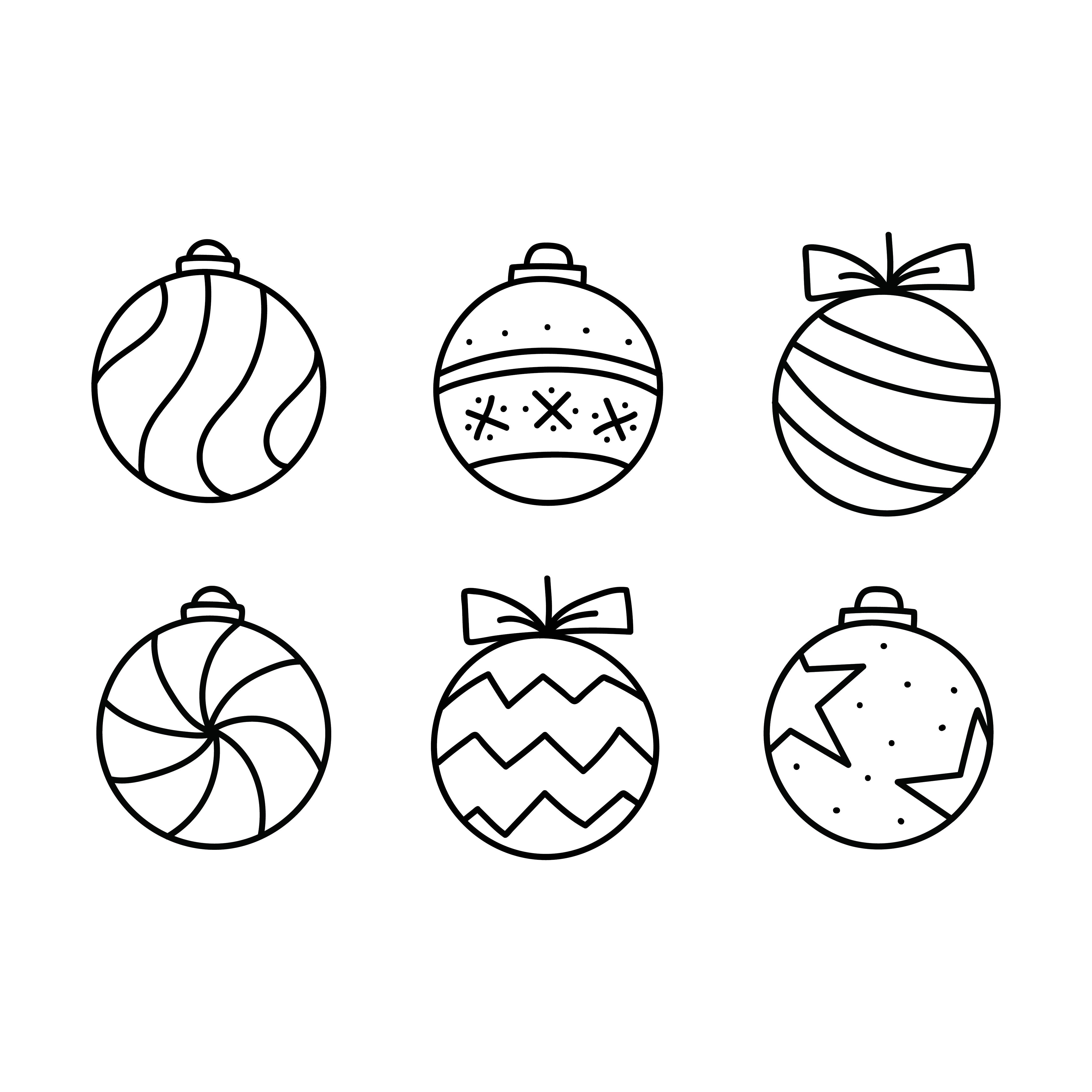 Printable Felt Christmas Ornament Templates