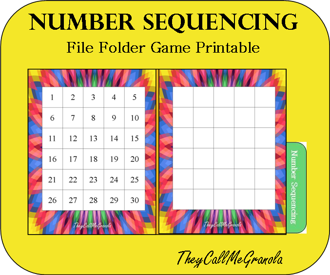 6 Images of File Folder Printable Game Board