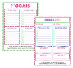 6 Images of Printable Goal Sheets 2015