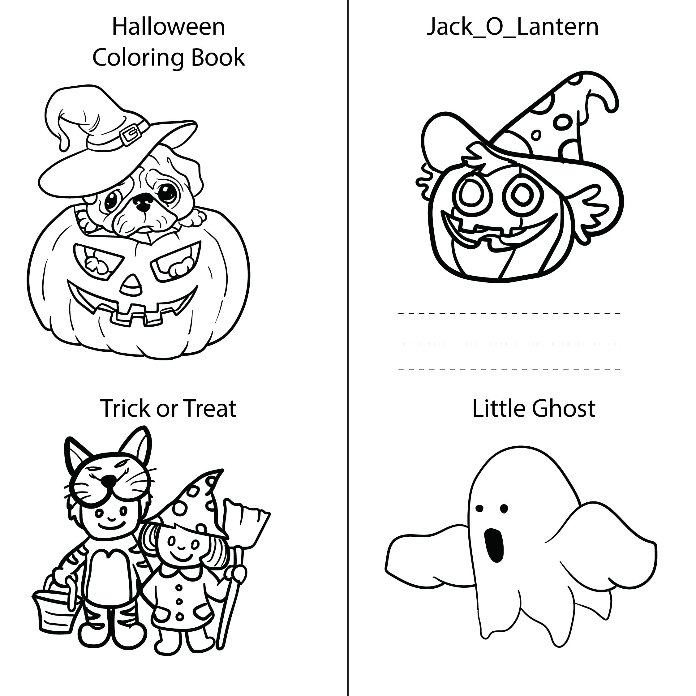 Printable Halloween Activity Book