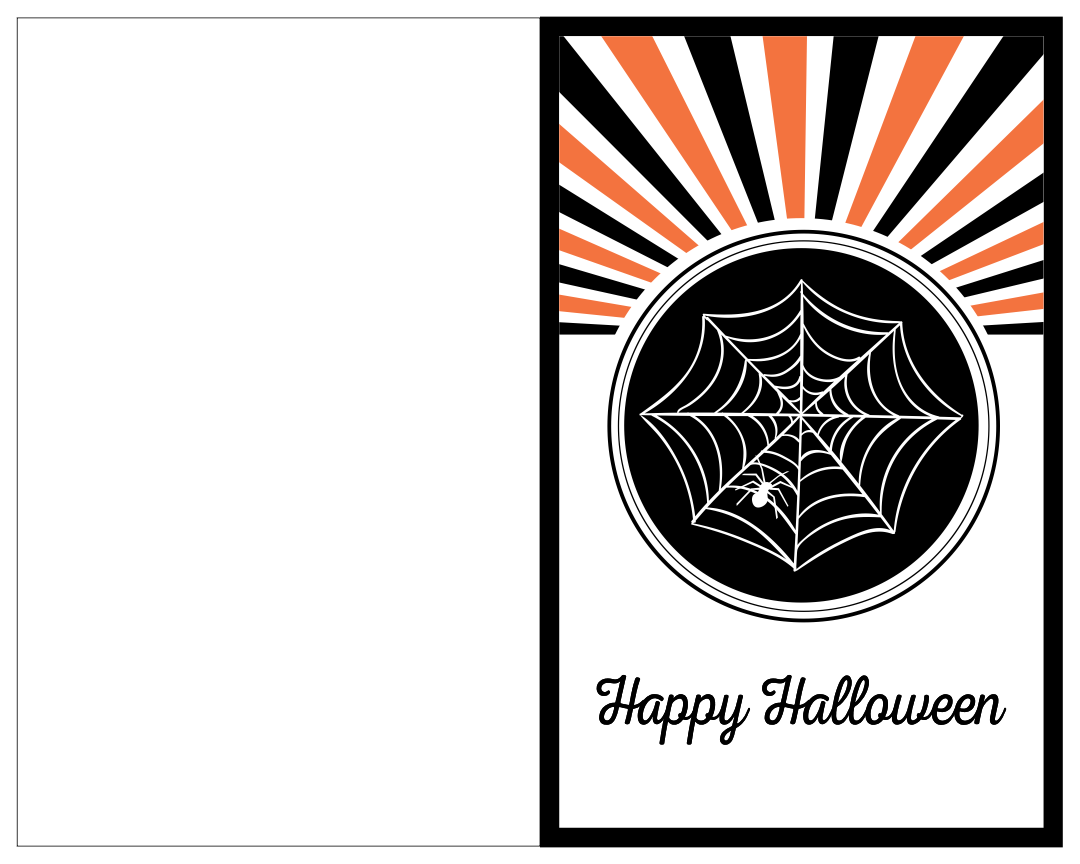 7 Images of Black And White Halloween Printable Cards