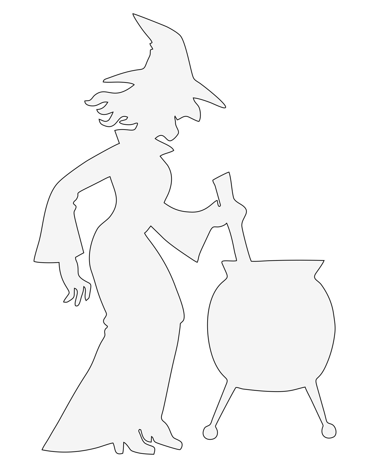 Printable Halloween Stencils Witch