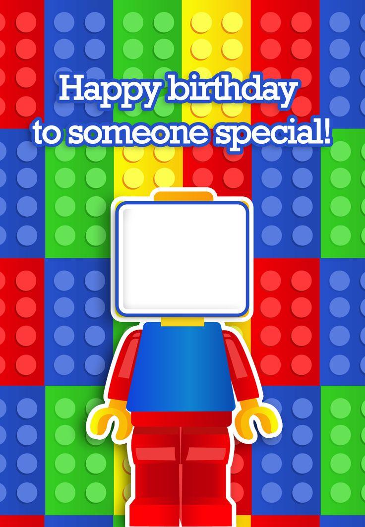 7 Images of Printable LEGO Happy Birthday