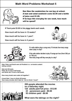 math worksheet : 6 best images of free printable basic math problems  irregular  : Word Problem Math Worksheets