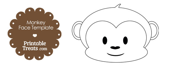 4 Images of Printable Monkey Template