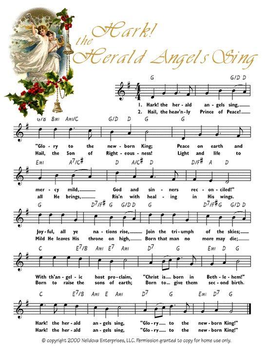 7 Images of Free Printable Christmas Carols Sheet Music