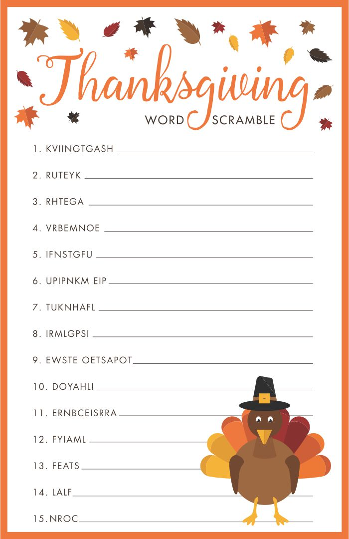 5 Images of Preschool Printable Thanksgiving Clip Art