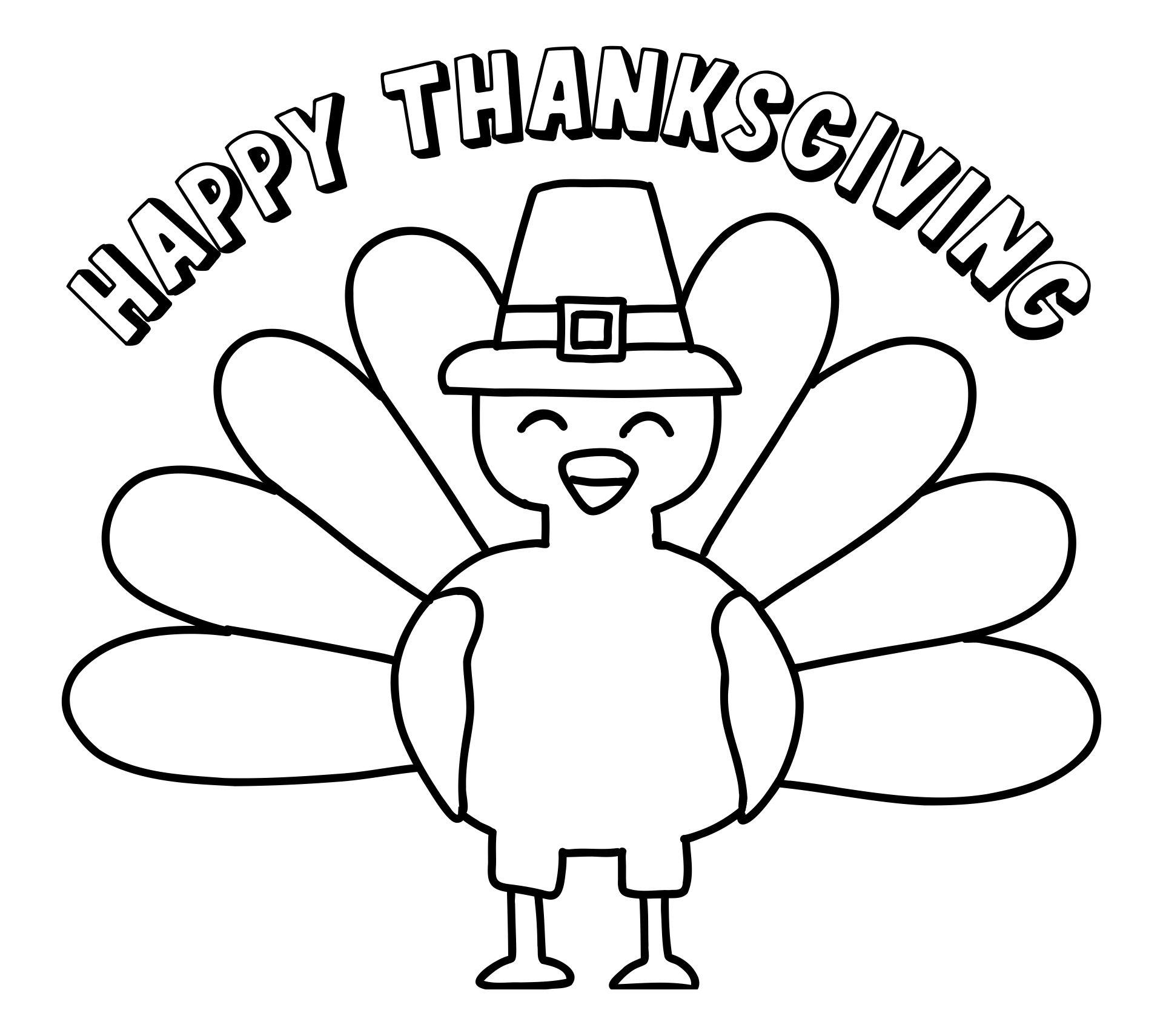Printable Thanksgiving Coloring Sheets