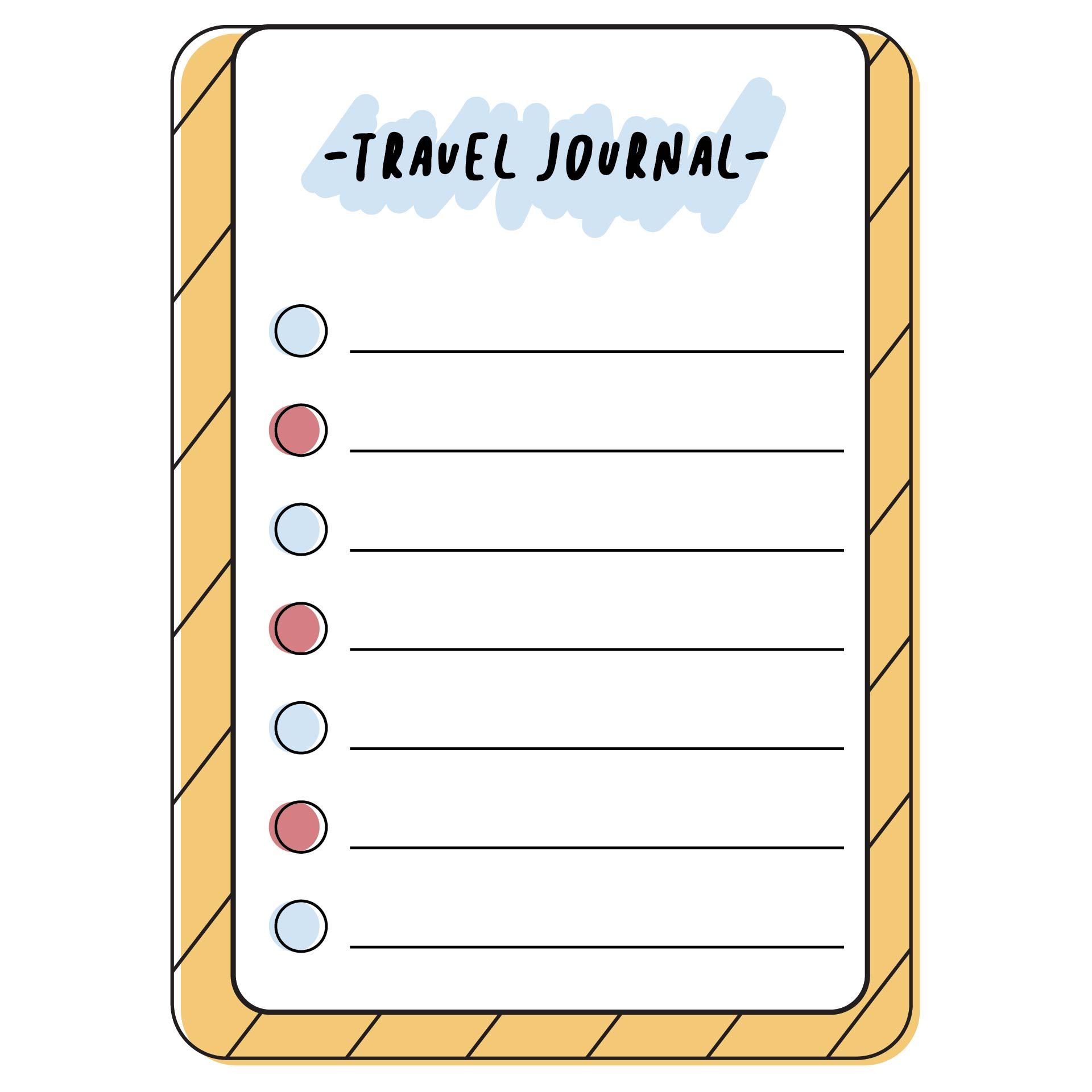 Printable Travel Journal Pages