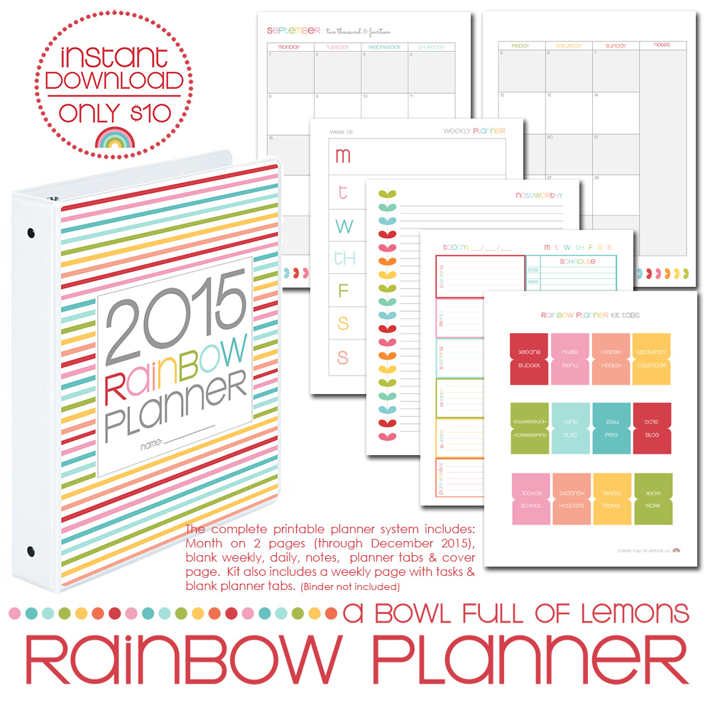Free Printable Weekly Planner Pages 2015