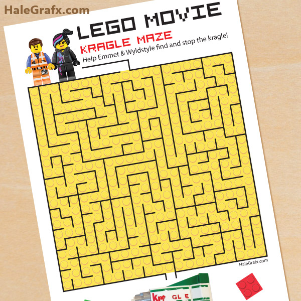 5 Images of LEGO Maze Printable