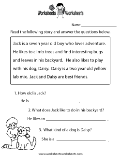 Printables Printable Reading Comprehension Worksheets free printable kindergarten reading comprehension worksheets scalien scalien