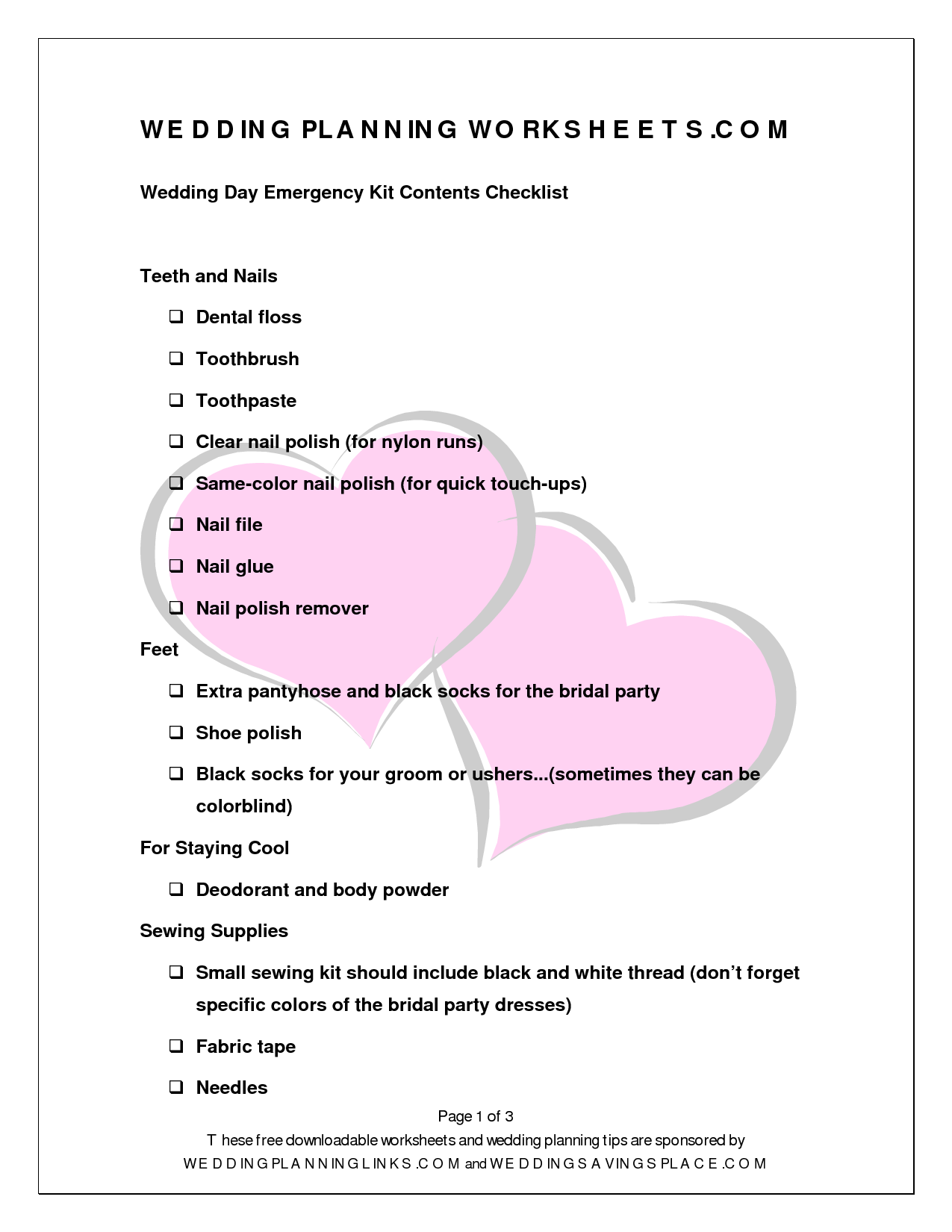 Worksheet Wedding Worksheets 8 best images of wedding planning worksheets free printable worksheets