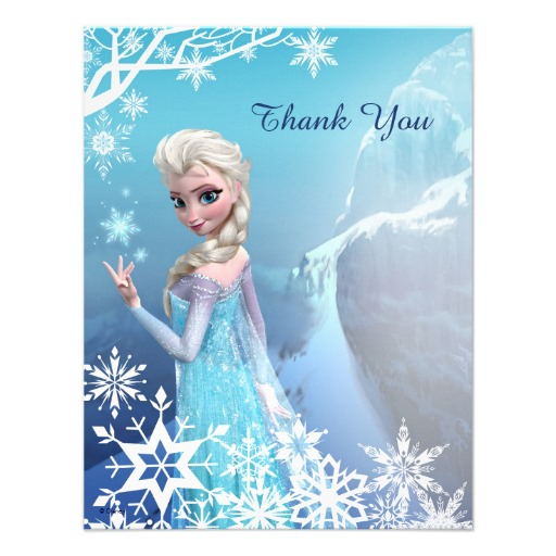 6 Images of Disney Frozen Printables Thank You