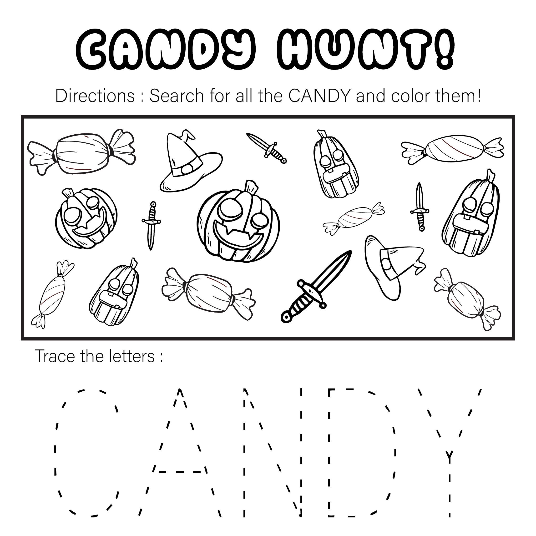 Halloween Activity Sheets