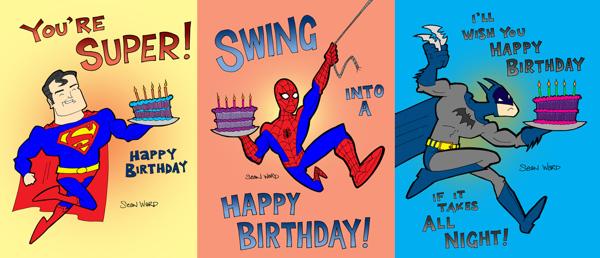 6 best images of superhero printable birthday cards
