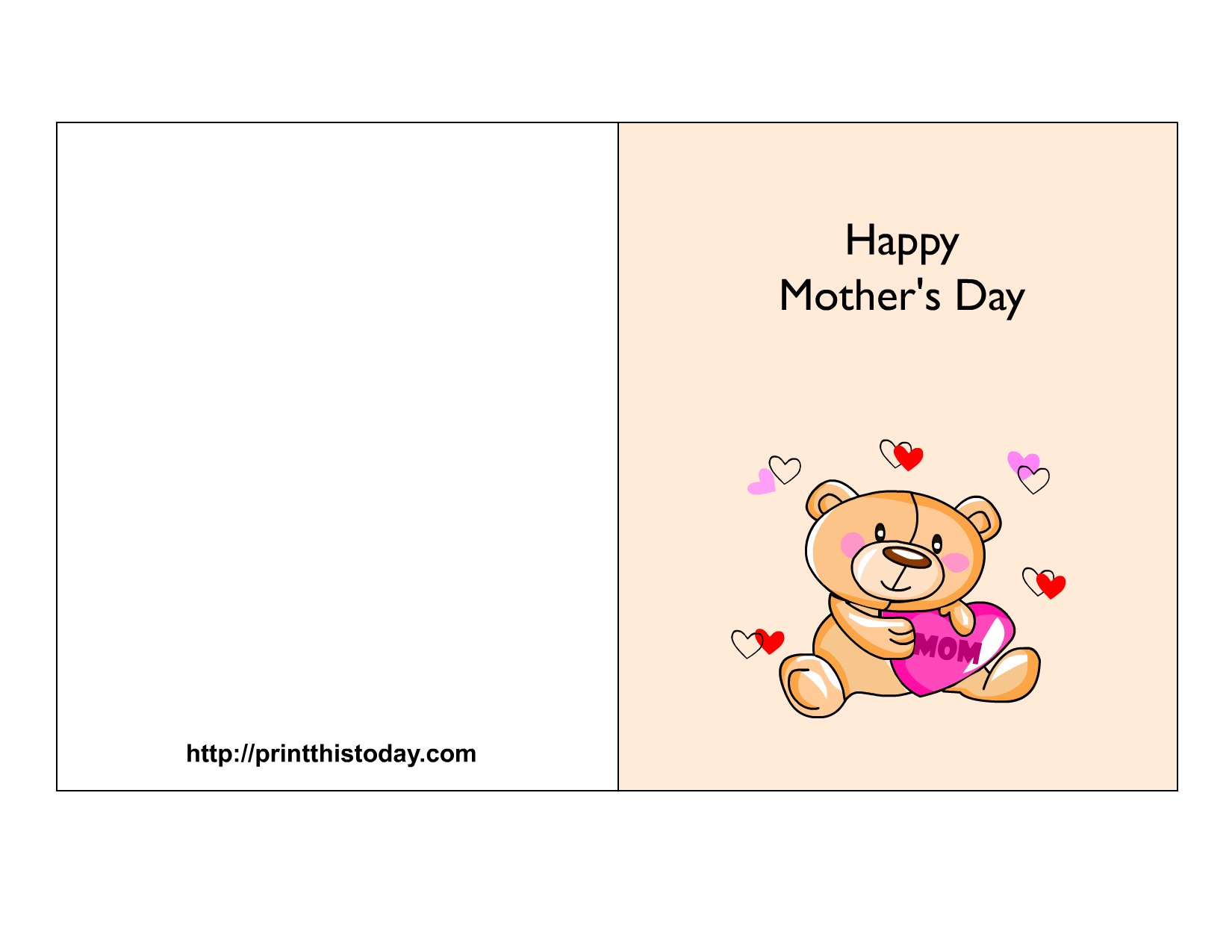 6 Images of Happy Mother's Day Card Printable Free