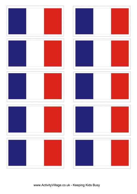 4 Images of Free Printable Flag Of France