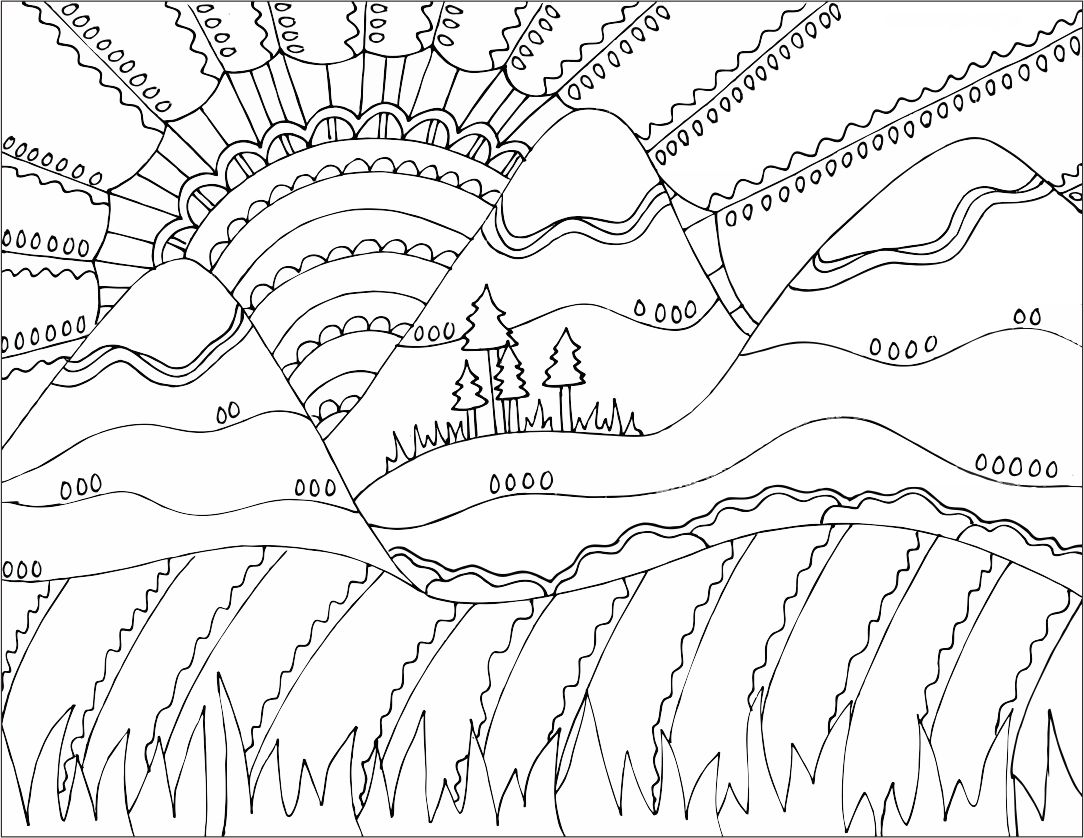 japanese art coloring pages - photo#12