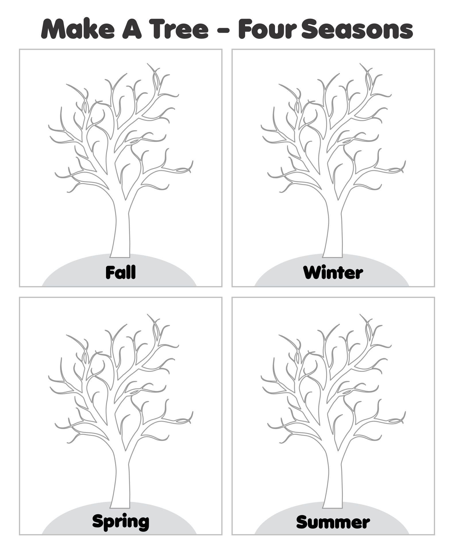 Kindergarten Seasons Worksheets