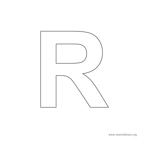 5 Images of Printable Letter R Stencil