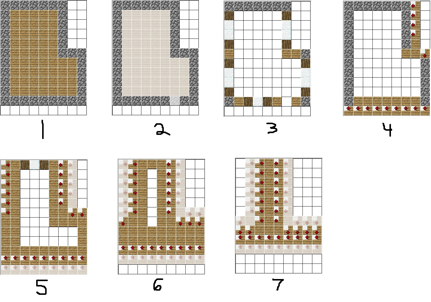 6 best images of printable minecraft villager houses for Printable blueprints