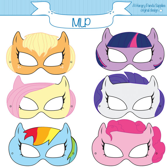 7 Images of My Little Pony Masks Printable Free