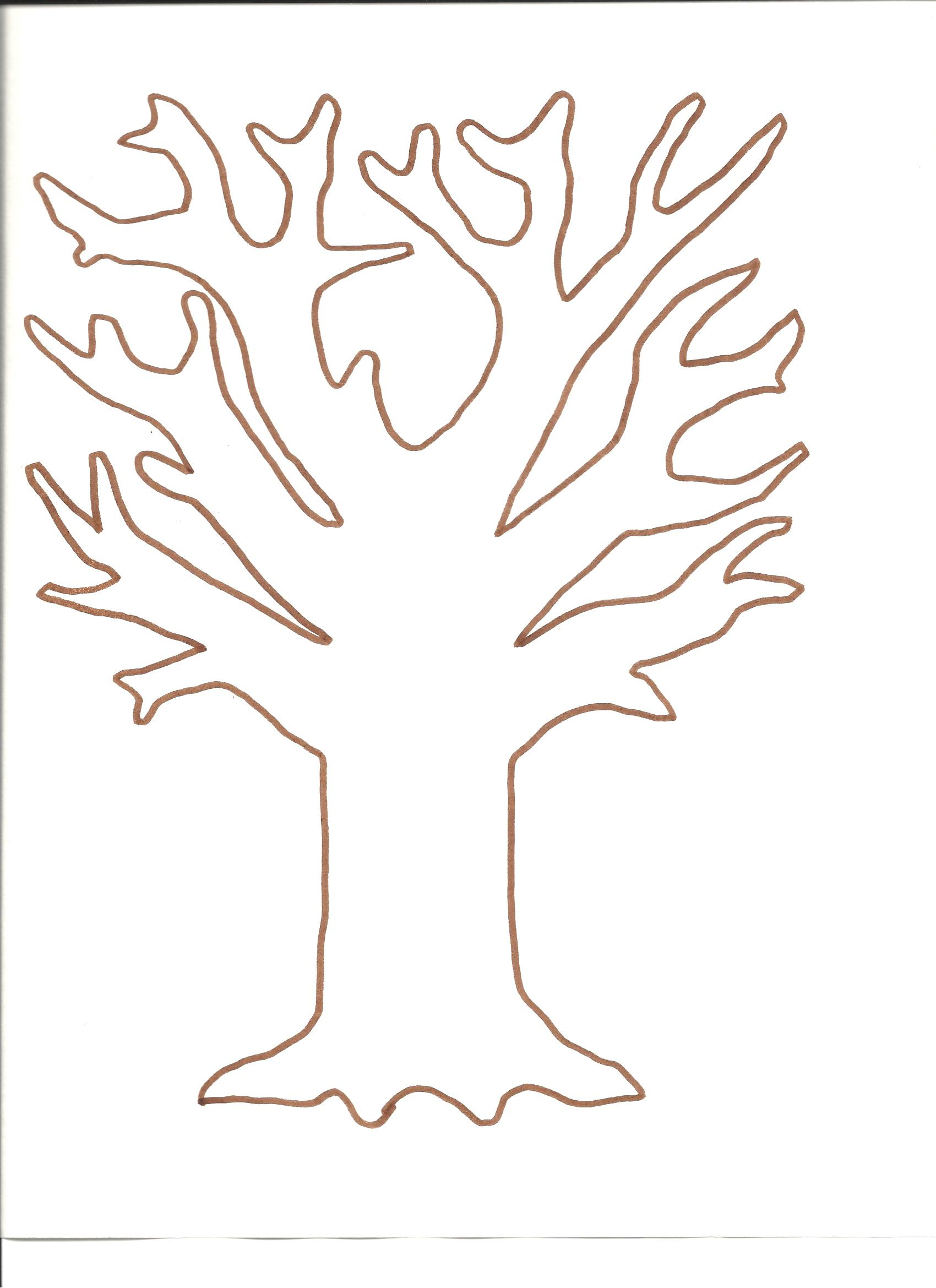 6 best images of fall tree printable for preschool paper for Fingerprint paper template