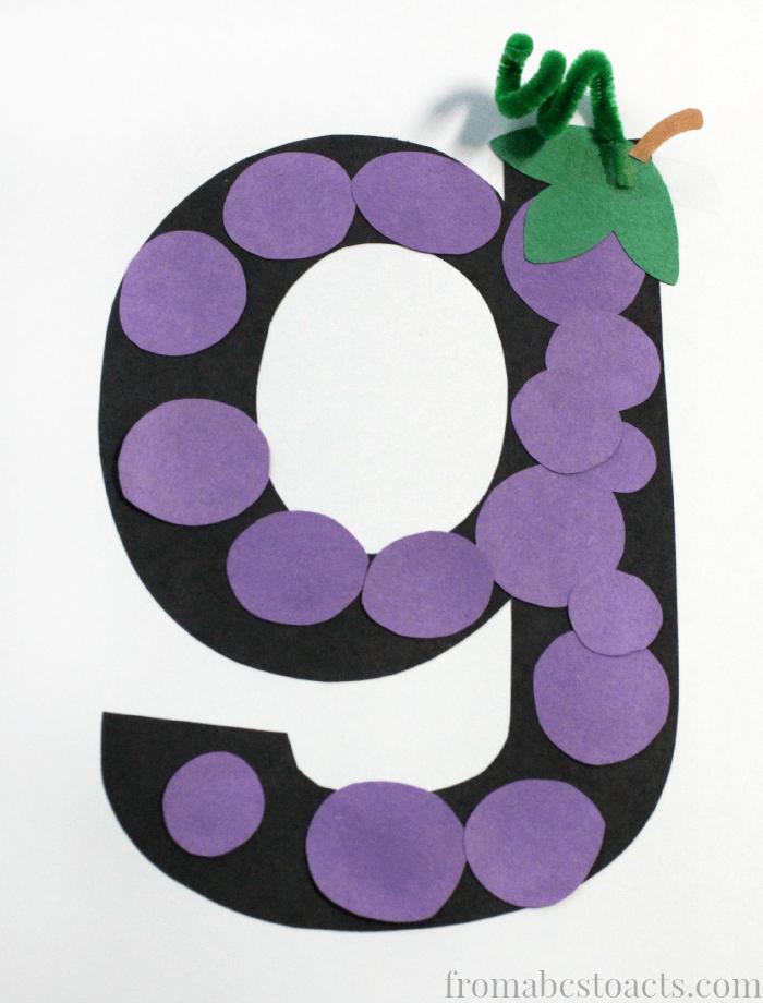 8 best images of printable preschool letter g crafts