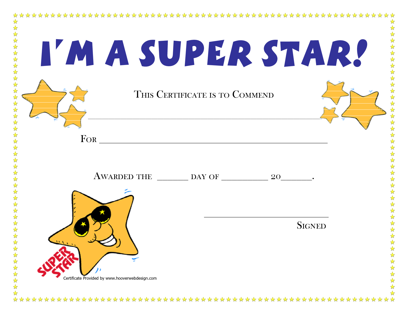 5 Images of Printable Award Certificate Templates
